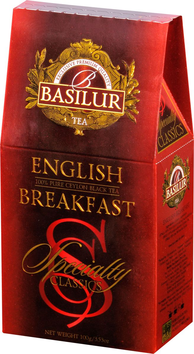 Basilur English Breakfast черный листовой чай, 100 г basilur english afternoon черный листовой чай 100 г