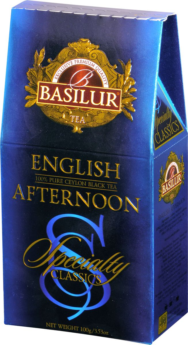 Basilur English Afternoon черный листовой чай, 100 г basilur english afternoon черный листовой чай 100 г