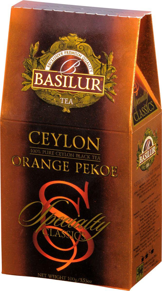 Basilur Ceylon Orange Pekoe черный листовой чай, 100 г shere tea престижная коллекция pekoe чай черный листовой 250 г