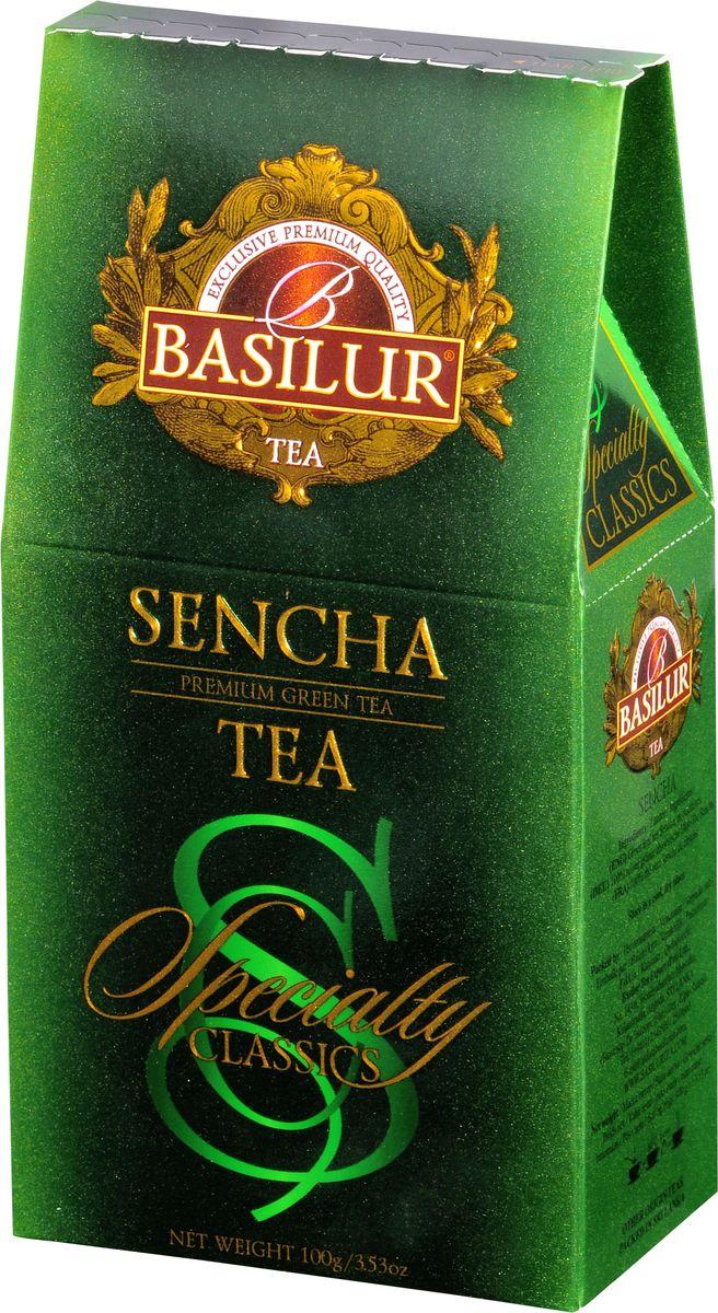 Basilur Sencha зеленый листовой чай, 100 г цена в Москве и Питере