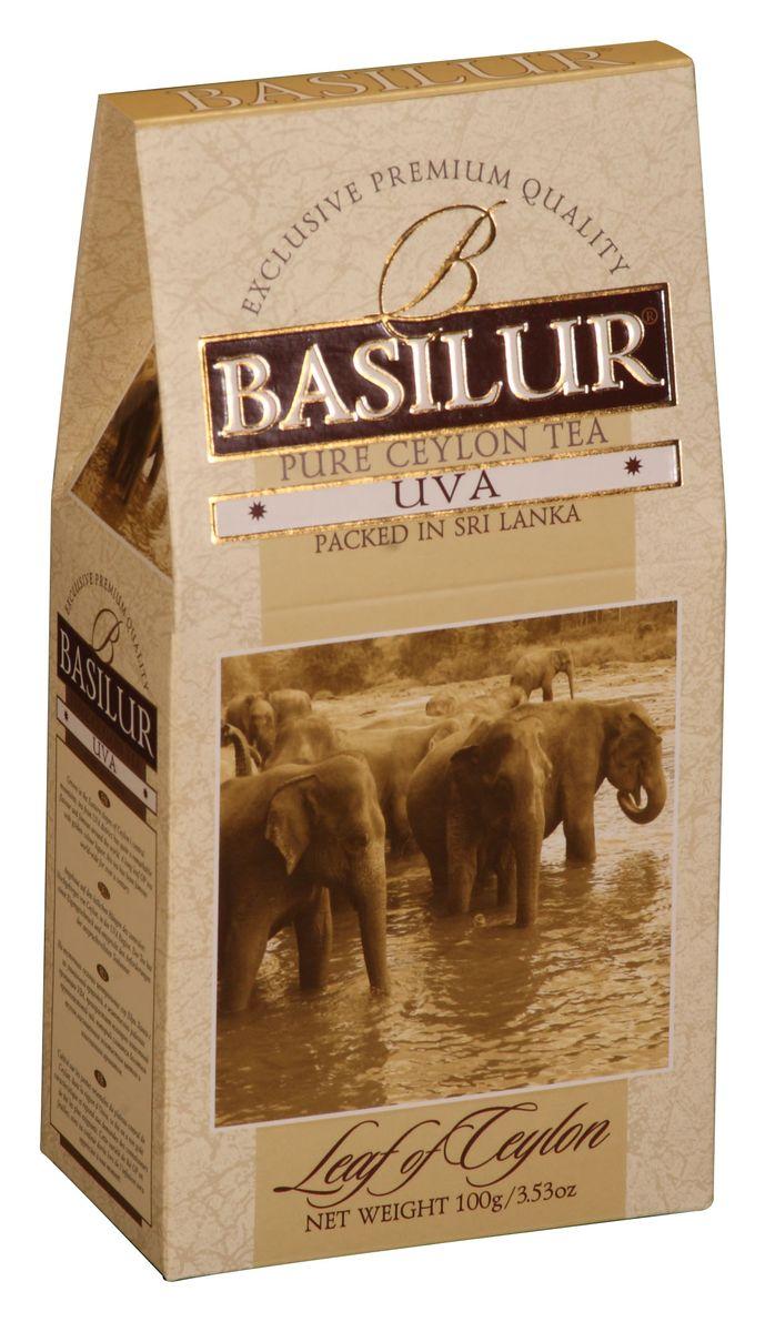 Basilur Uva OP черный листовой чай, 100 г basilur frosty afternoon черный листовой чай 100 г жестяная банка