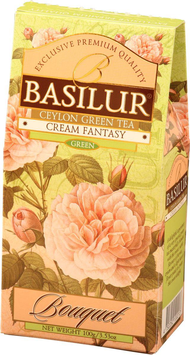 Basilur Cream Fantasy зеленый листовой чай, 100 г basilur frosty afternoon черный листовой чай 100 г жестяная банка