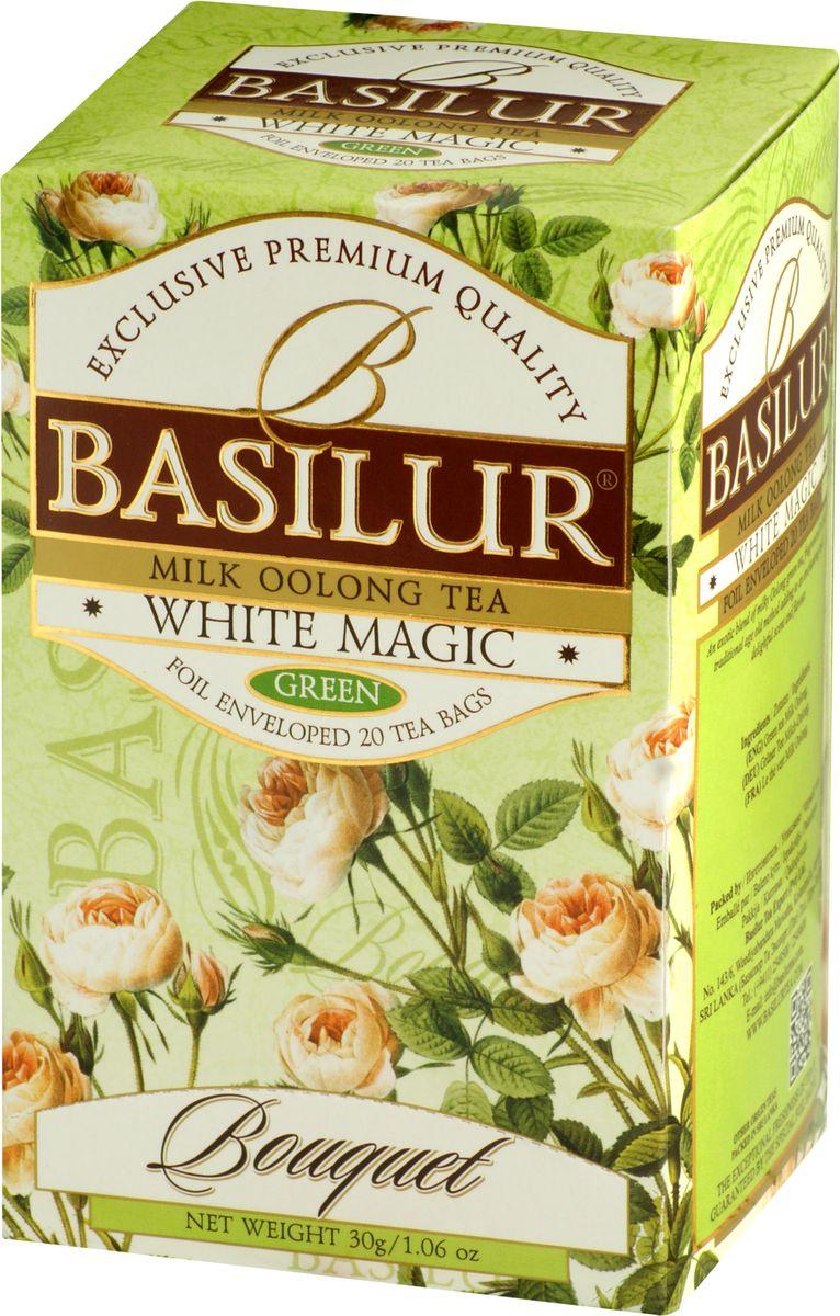 Basilur White Magic зеленый чай в пакетиках, 20 шт цена в Москве и Питере
