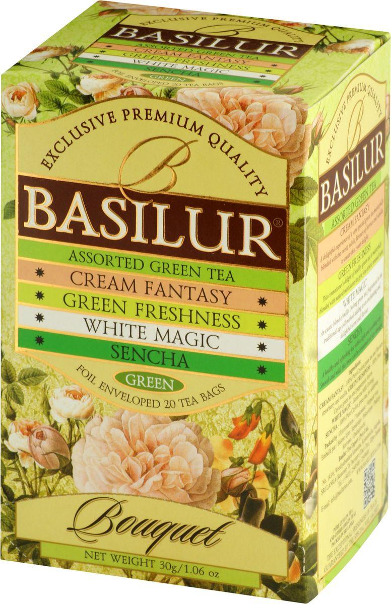 Basilur Assorted Bouquet зеленый чай в пакетиках, 20 шт
