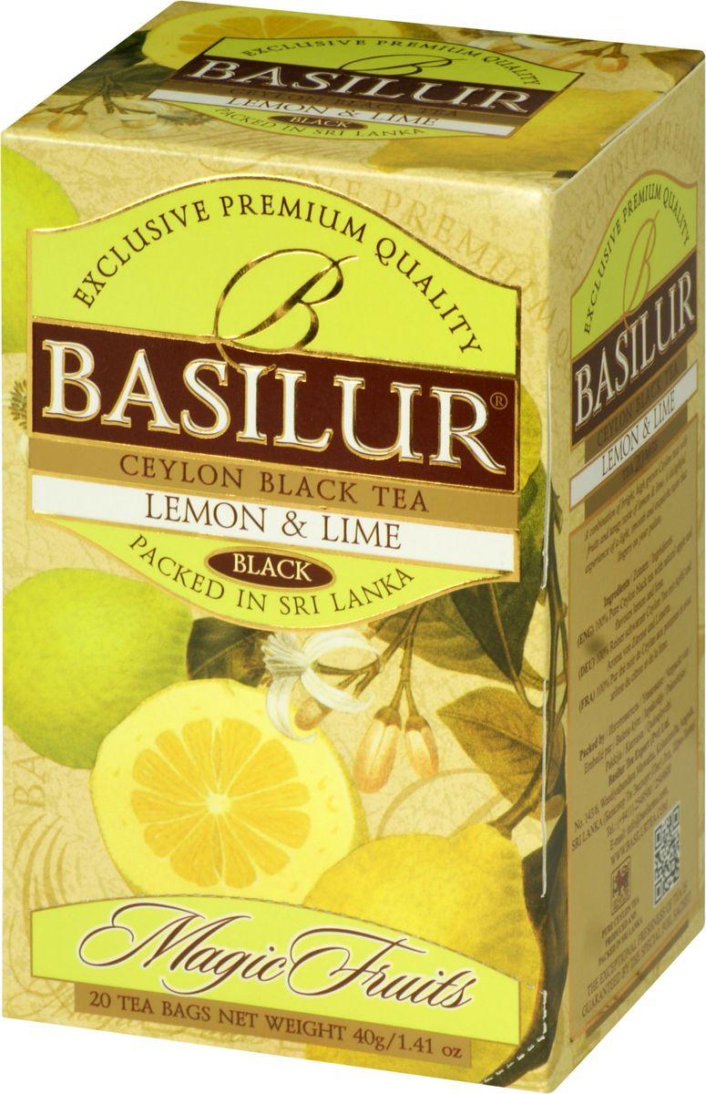 Basilur Lemon and Lime черный чай в пакетиках, 20 шт барчуков и барчукова г назаров ю основы физической культуры теория и методика курс лекций