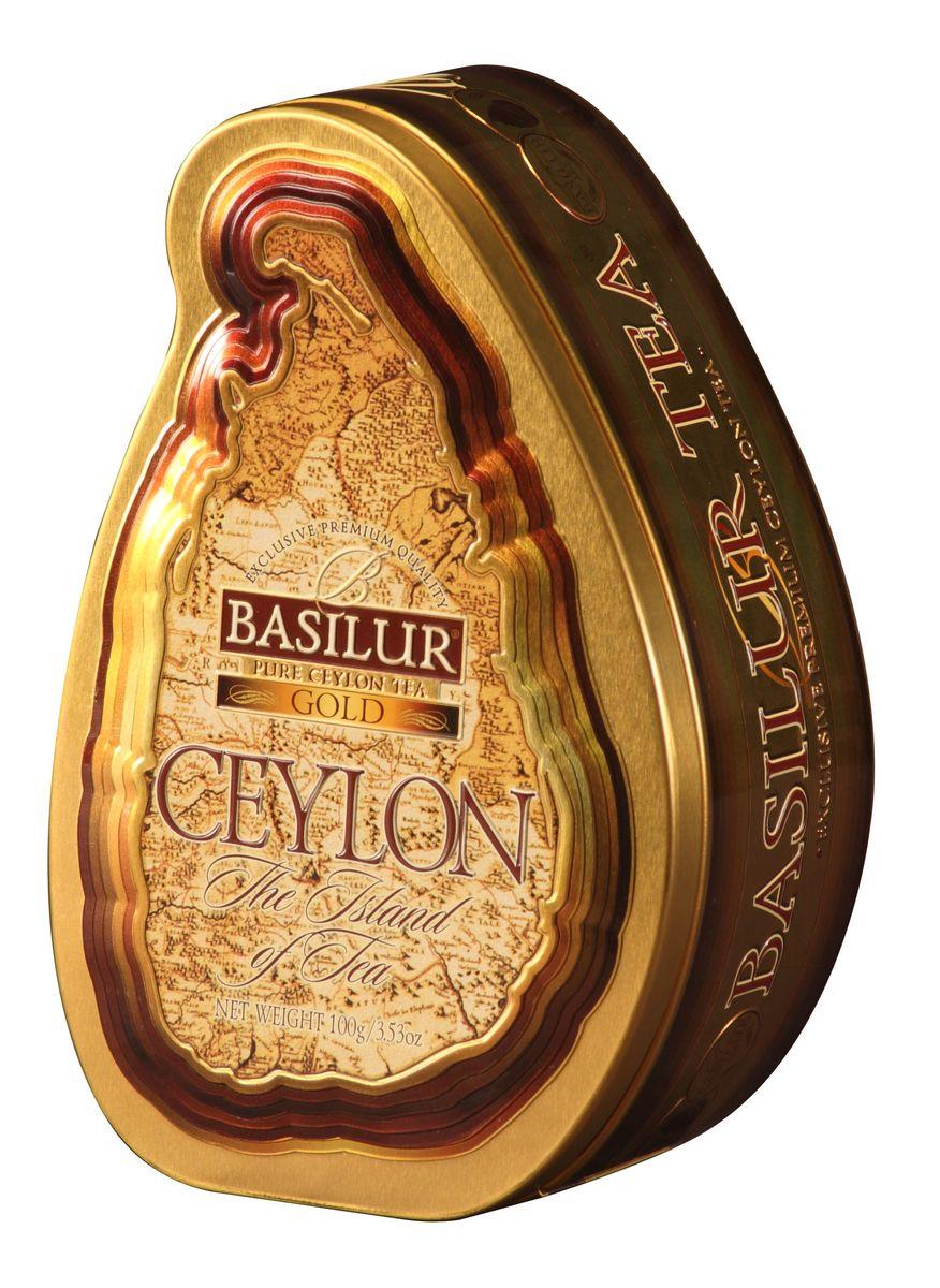 Basilur Gold черный листовой чай, 100 г (жестяная банка) basilur tea house черный листовой чай 100 г жестяная банка