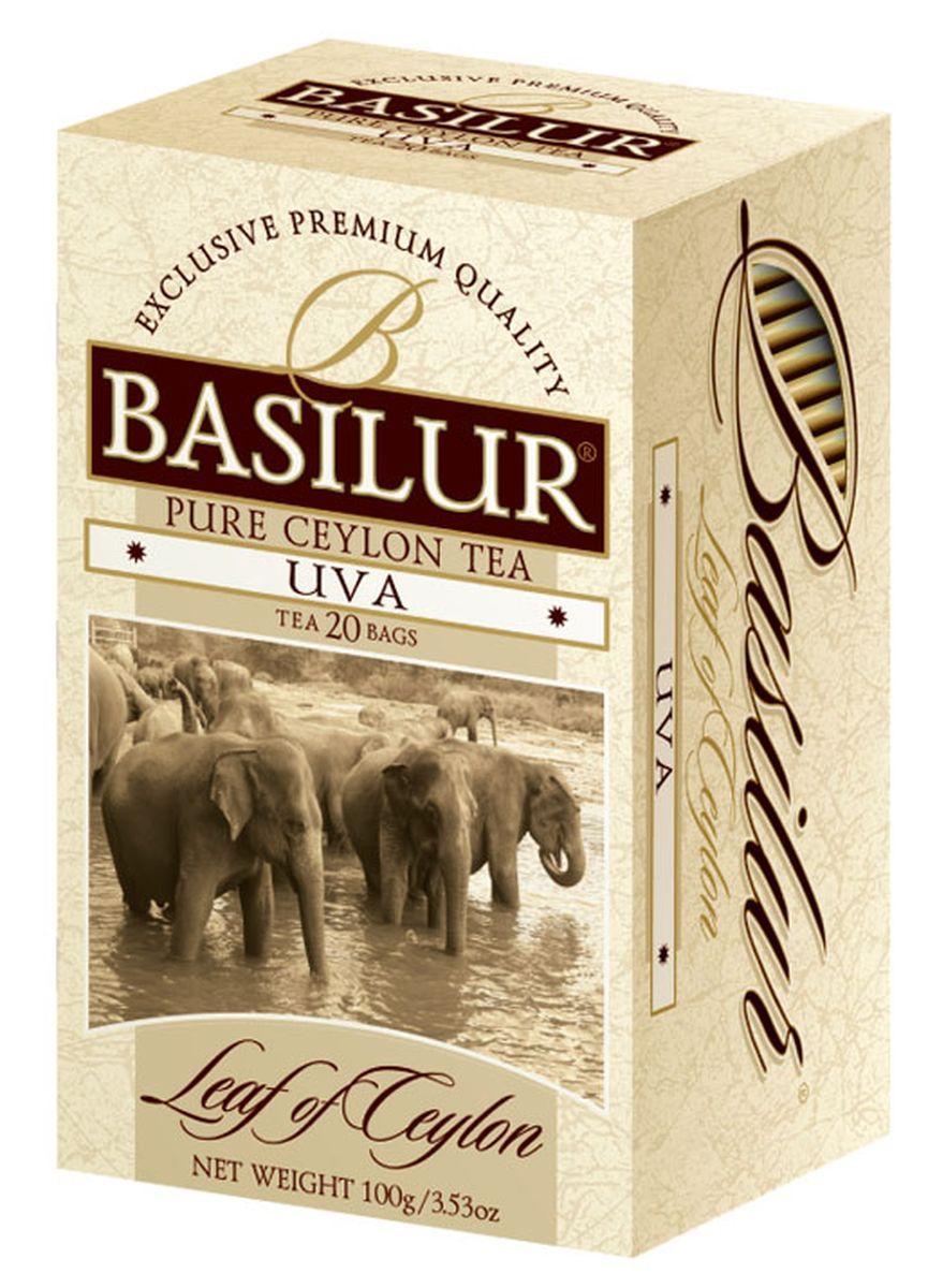 Basilur Uva OP черный чай в пакетиках, 20 шт basilur frosty afternoon черный листовой чай 100 г жестяная банка