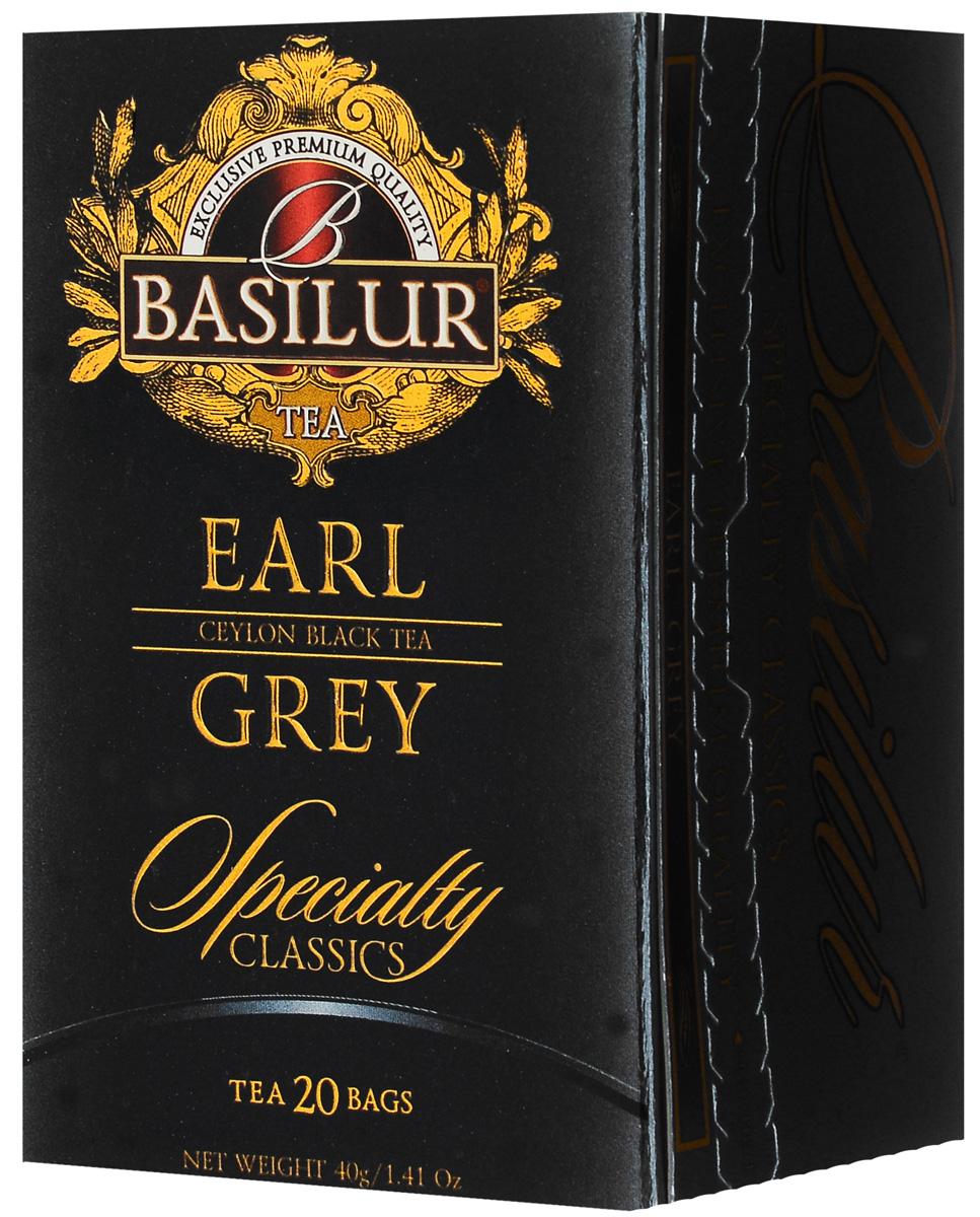 Basilur Earl Grey черный чай в пакетиках, 20 шт basilur persian earl grey чай черный листовой с бергамотом 100 г