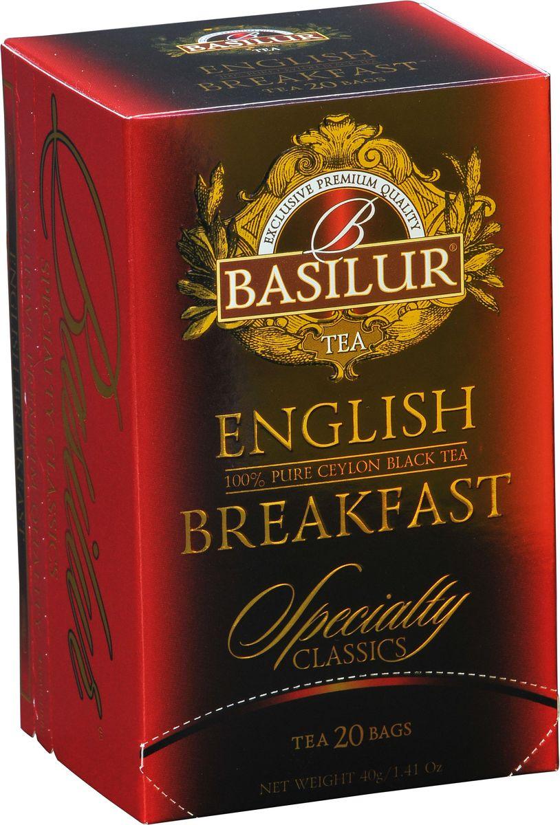 Basilur English Breakfast черный чай в пакетиках, 20 шт цена в Москве и Питере