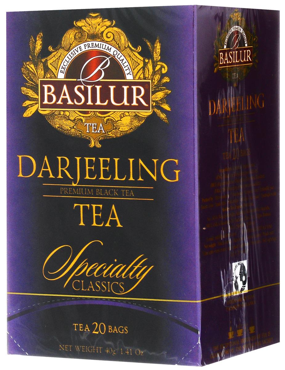 Basilur Darjeeling черный чай в пакетиках, 20 шт цена в Москве и Питере