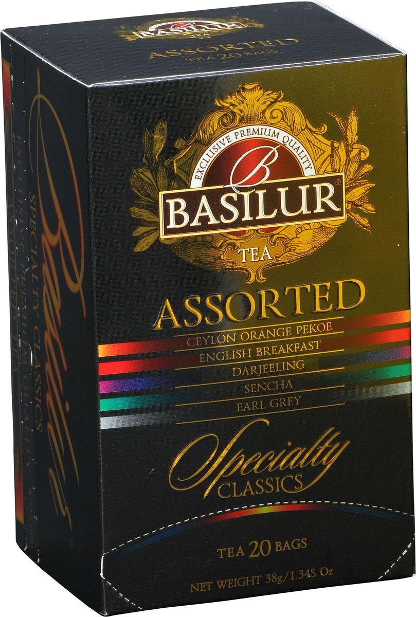 цена на Basilur Assorted Specialty Classics черный чай в пакетиках, 20 шт
