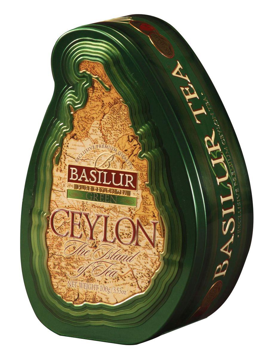 Basilur Green зеленый листовой чай, 100 г (жестяная банка) basilur tea house черный листовой чай 100 г жестяная банка
