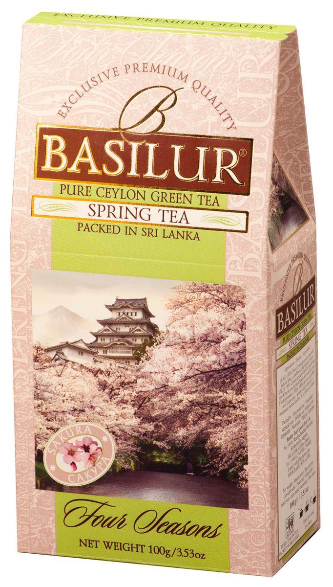 цена на Basilur Spring Tea зеленый листовой чай, 100 г
