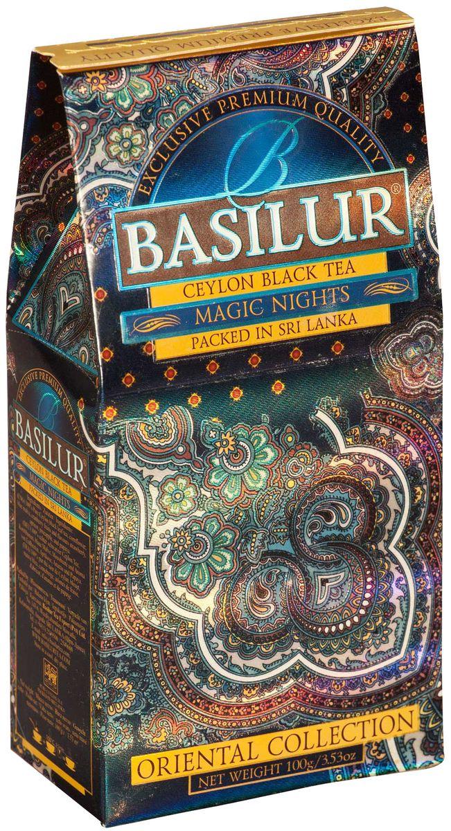 цена на Basilur Magic Nights черный листовой чай, 100 г