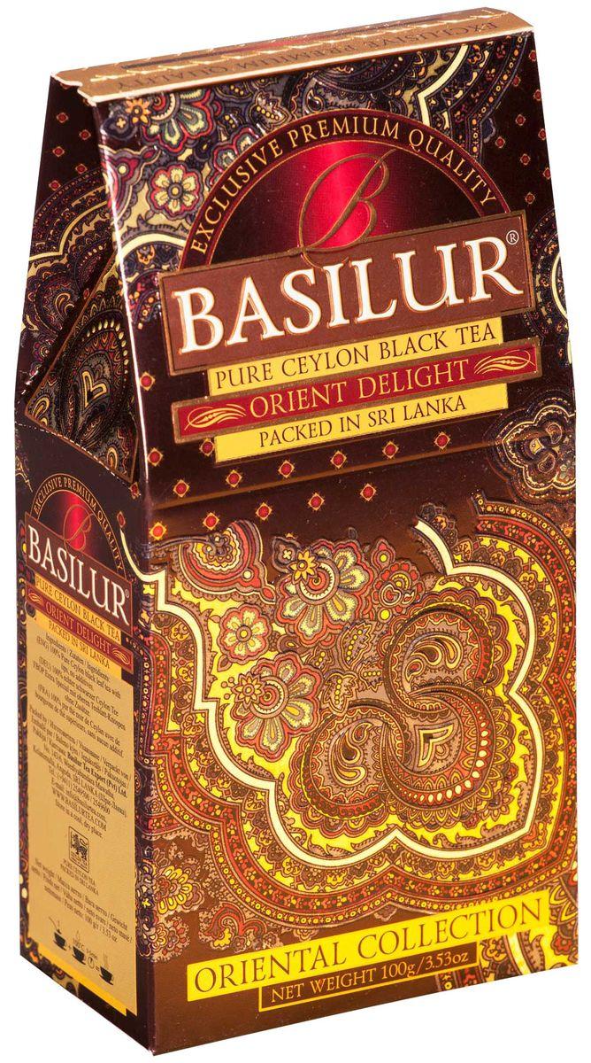 Basilur Orient Delight черный листовой чай, 100 г basilur frosty afternoon черный листовой чай 100 г жестяная банка