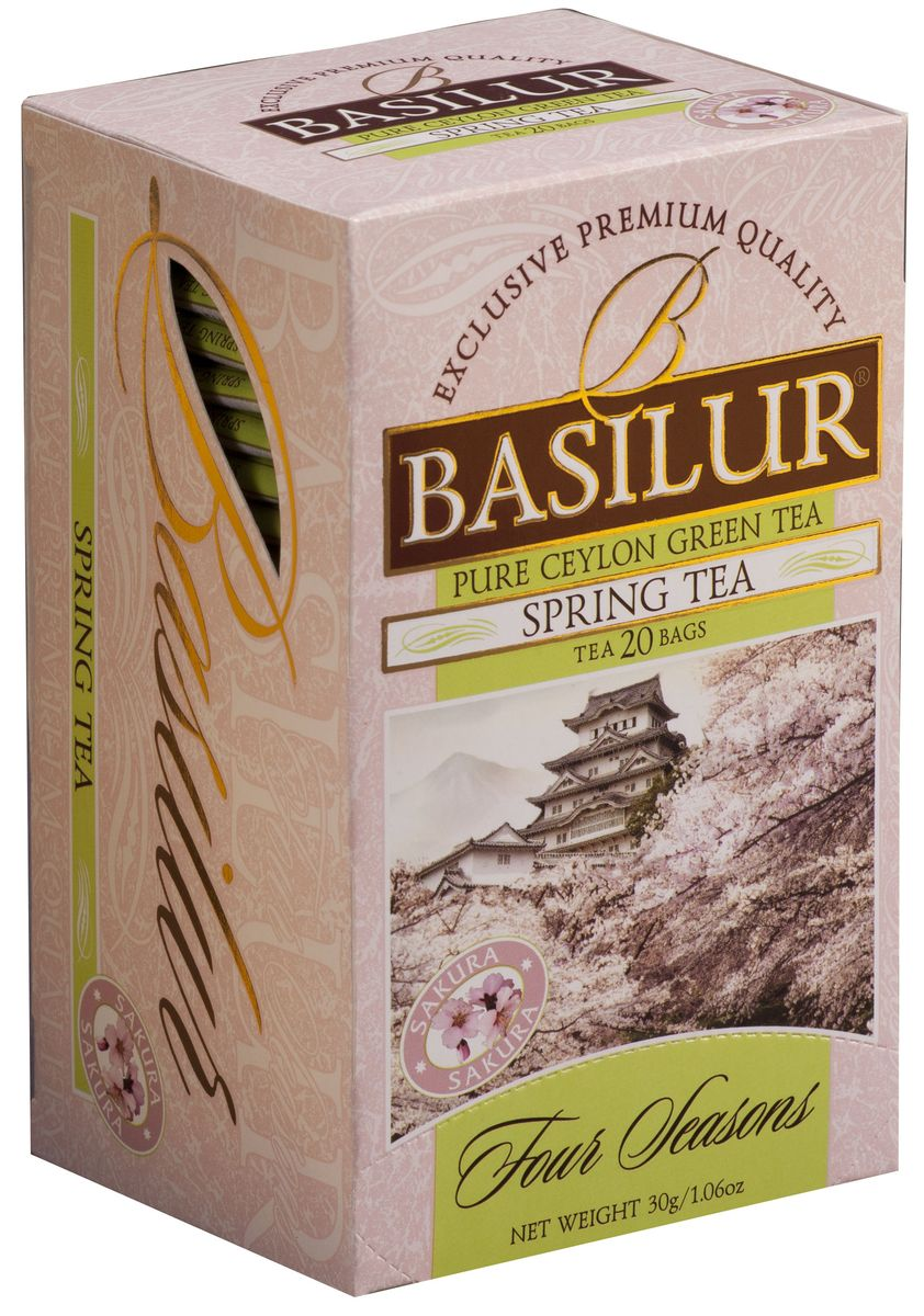 цена на Basilur Spring Tea зеленый чай в пакетиках, 20 шт