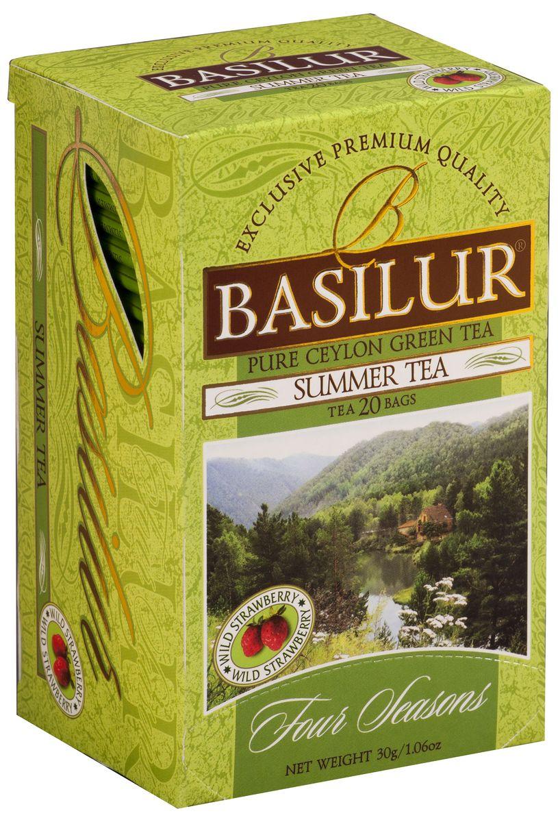 Basilur Summer Tea зеленый чай в пакетиках, 20 шт