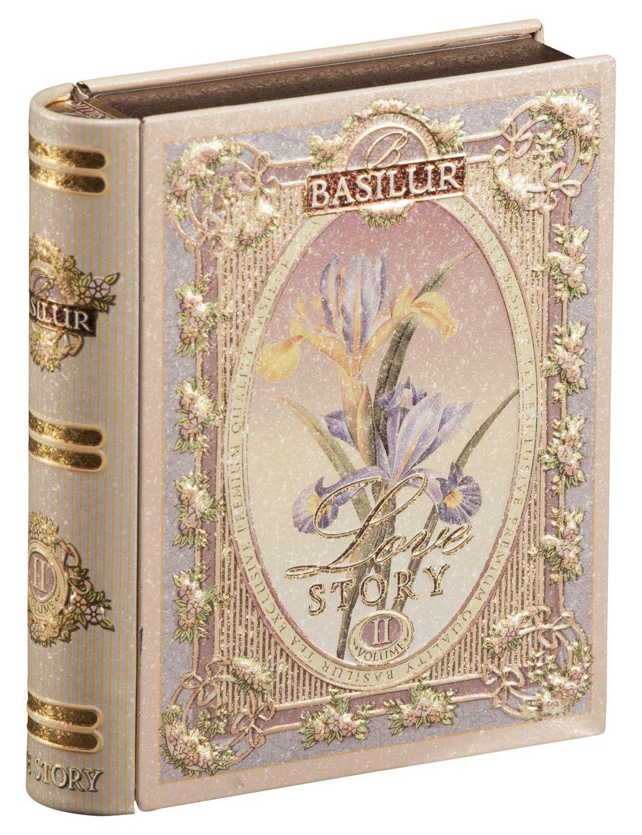 Basilur Tea Book. Love Story II черный листовой чай, 100 г (жестяная банка) basilur persian earl grey чай черный листовой с бергамотом 100 г