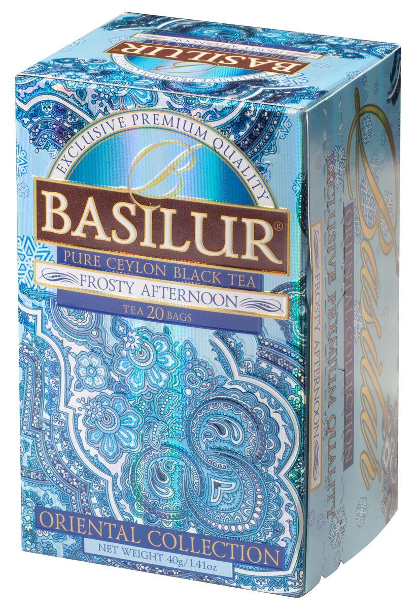 Basilur Frosty Afternoon черный чай в пакетиках, 20 шт basilur frosty afternoon черный листовой чай 100 г жестяная банка