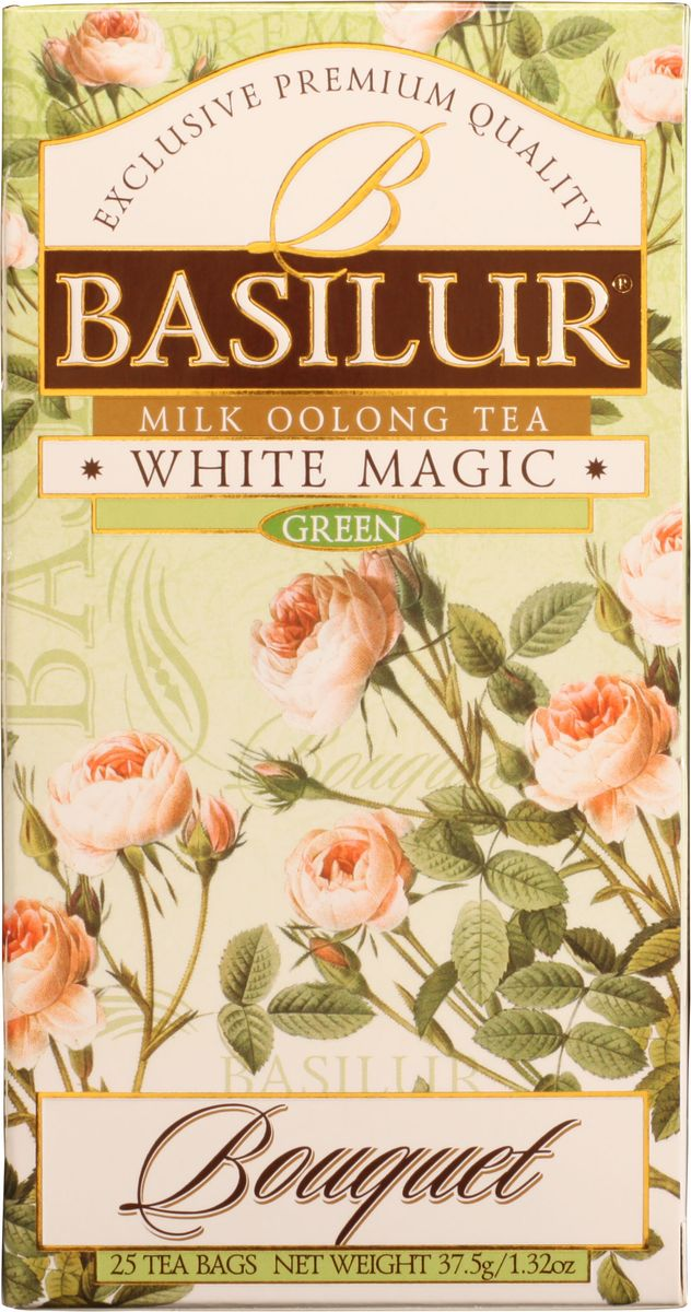 Basilur White Magic зеленый чай в пакетиках, 25 шт цена в Москве и Питере