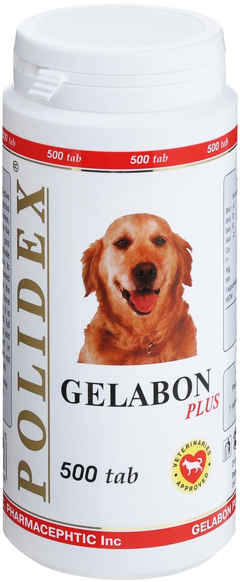 Витамины для собак Polidex Gelabon Plus, 500 шт таблетки polidex глюкогекстрон plus для восст хрящ поверхностей и образования суст жидкости 300 таб