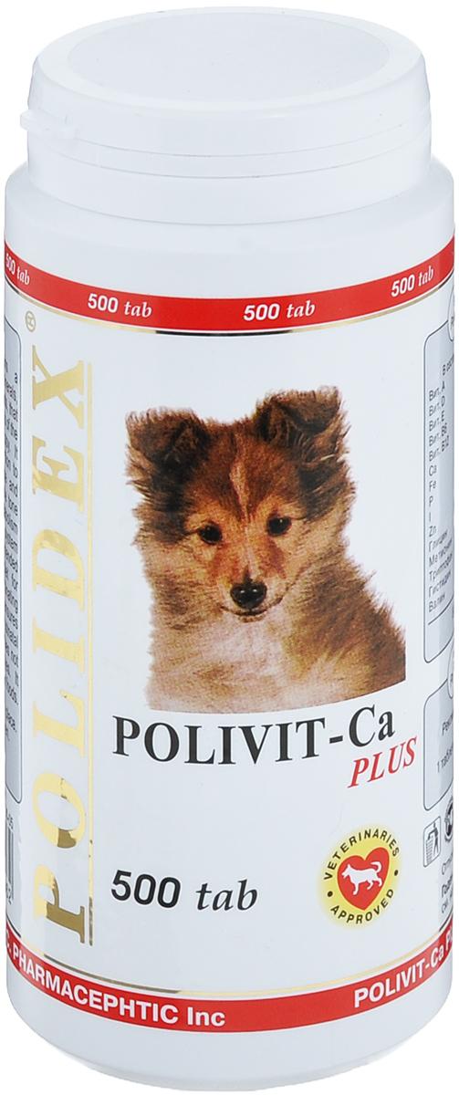 Витамины для собак Polidex Polivit-Ca plus, 500 шт витамины для собак polidex multivitum plus 150 шт