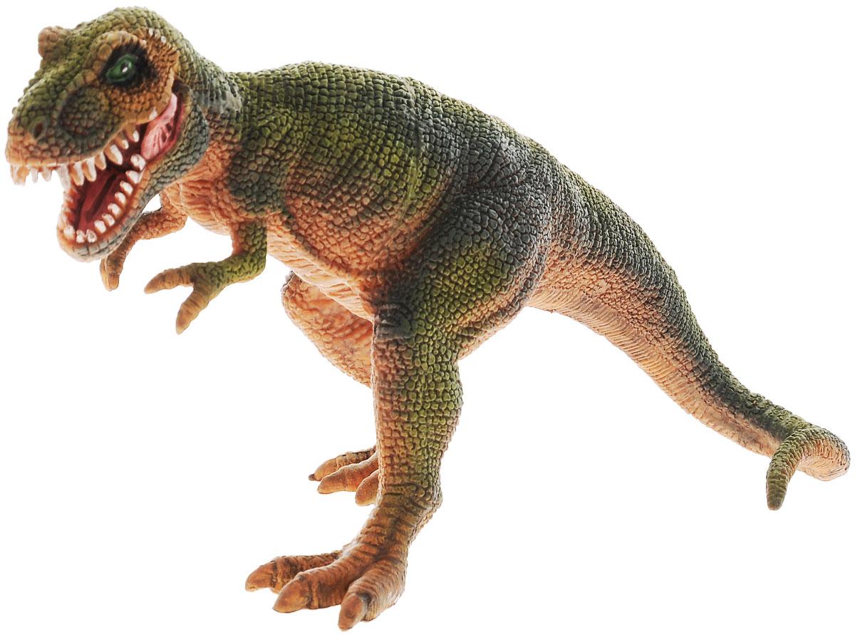 цена на Megasaurs Фигурка Тираннозавр, с двигающейся пастью, цвет: коричневый, зеленый