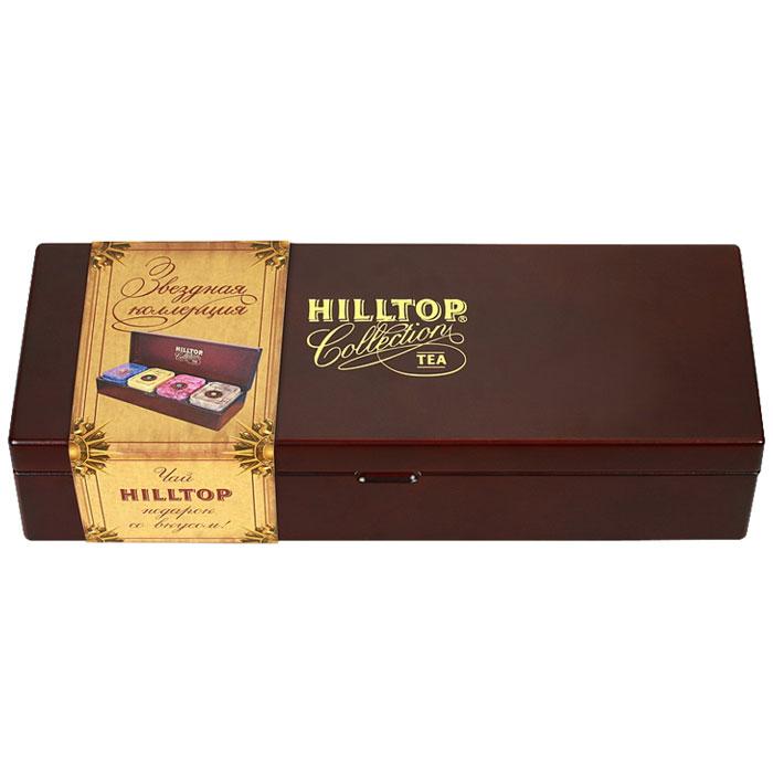 Hilltop Звездная коллекция большая, набор листового чая, 220 г hilltop розы 1001 ночь набор зеленого и черного листового чая в музыкальной шкатулке 125 г