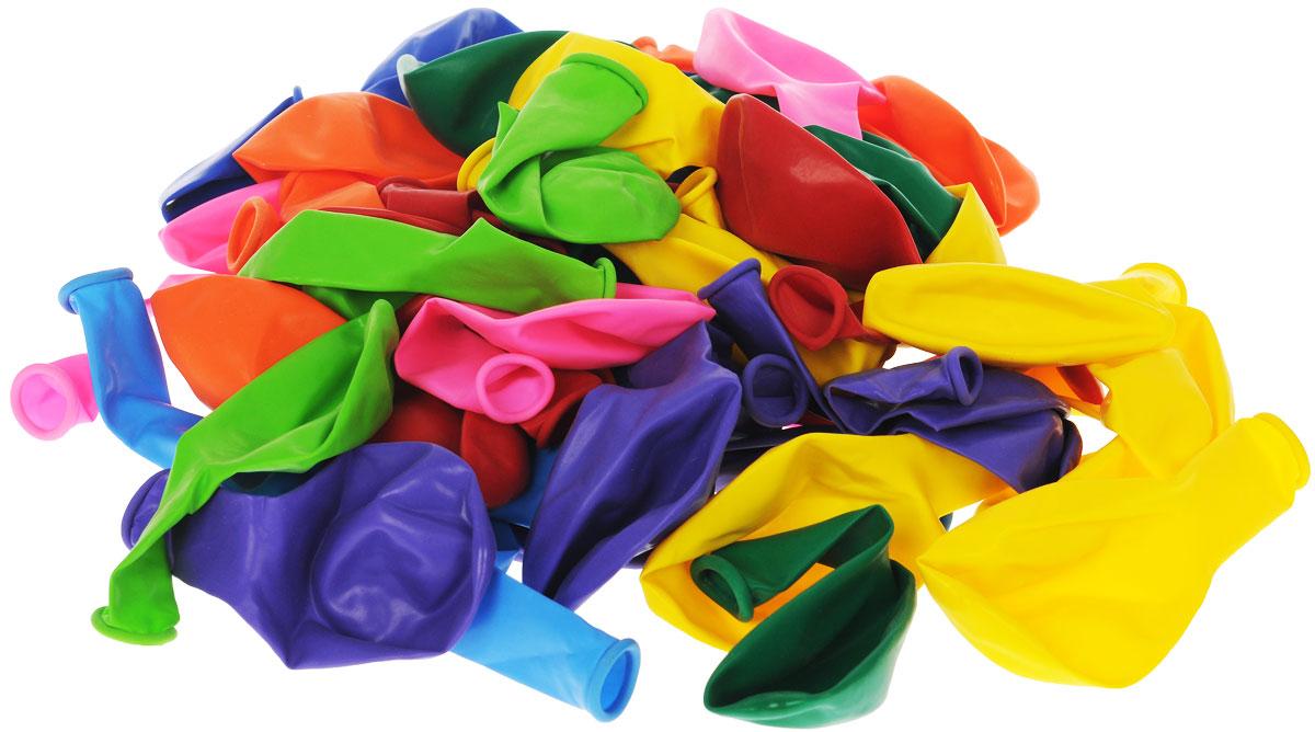 шарики bony 50 шаров Веселая затея Набор воздушных шаров Пастель, 50 шт