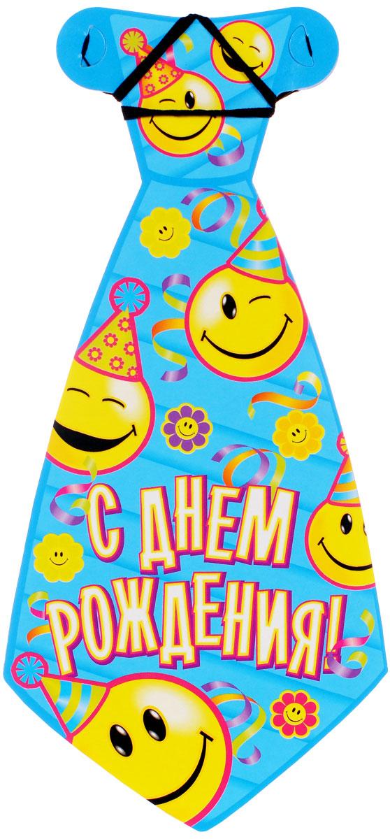 Веселая затея Галстук С днем рождения: Улыбки, 8 шт веселая затея стакан медвежонок девочка 8 шт