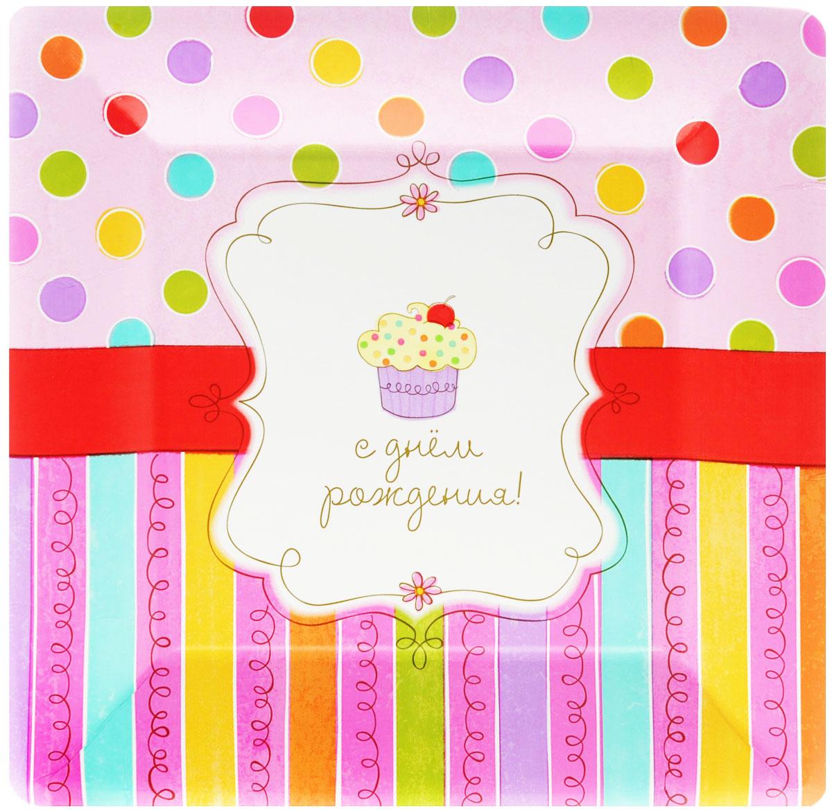 Amscan Тарелка бумажная Сладкий Праздник, 26 см, 8 шт1502-1311Предвкушение праздника - одна из самых приятных эмоций в жизни человека. Радость, улыбки, громкий смех друзей и родных - что может быть лучше этого? Но для того, чтобы каждый праздник был поистине незабываемым, вам не обойтись без ярких и красочных помощников, ведь самое главное в этом случае - детали. Тарелка бумажная AMSCAN Сладкий Праздник украсит праздничный стол и создаст веселую атмосферу. В комплекте 8 тарелок.