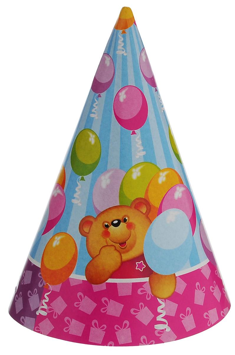 Веселая затея Колпак Медвежонок, 6 шт веселая затея стакан медвежонок девочка 8 шт