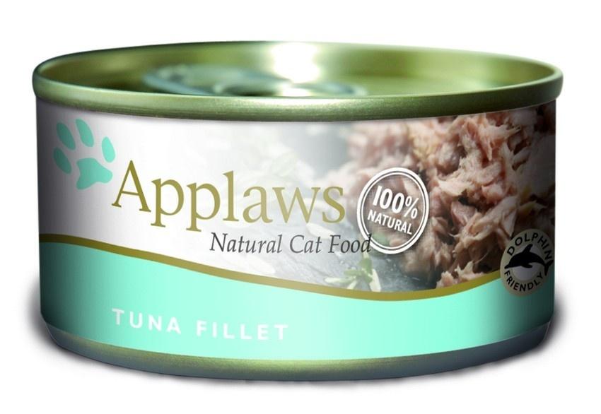 Консервы Applaws, для кошек, с филе тунца, 70 г консервы applaws для кошек с филе тунца и креветками 70 г
