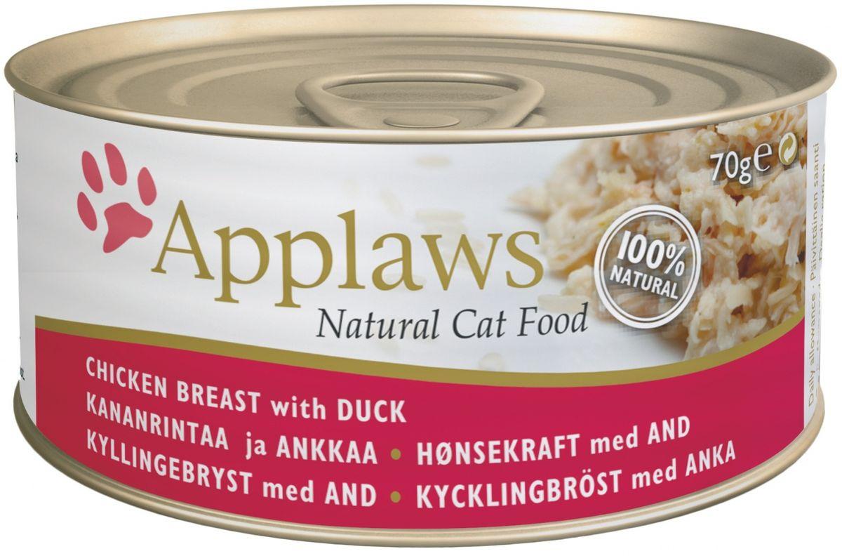 Консервы Applaws, для кошек, с курицей и уткой, 70 г