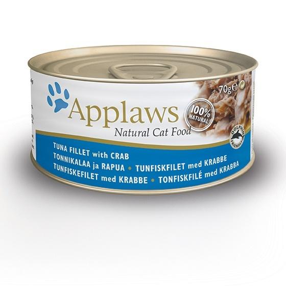 Консервы для кошек Applaws, с тунцом и крабовым мясом, 70 г корм для кошек applaws отзывы