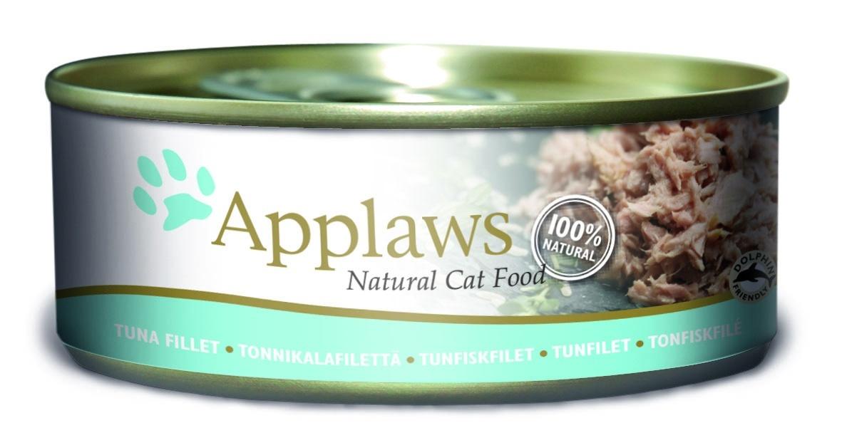 Консервы Applaws, для кошек, с филе тунца, 156 г консервы applaws для кошек с филе тунца и креветками 70 г