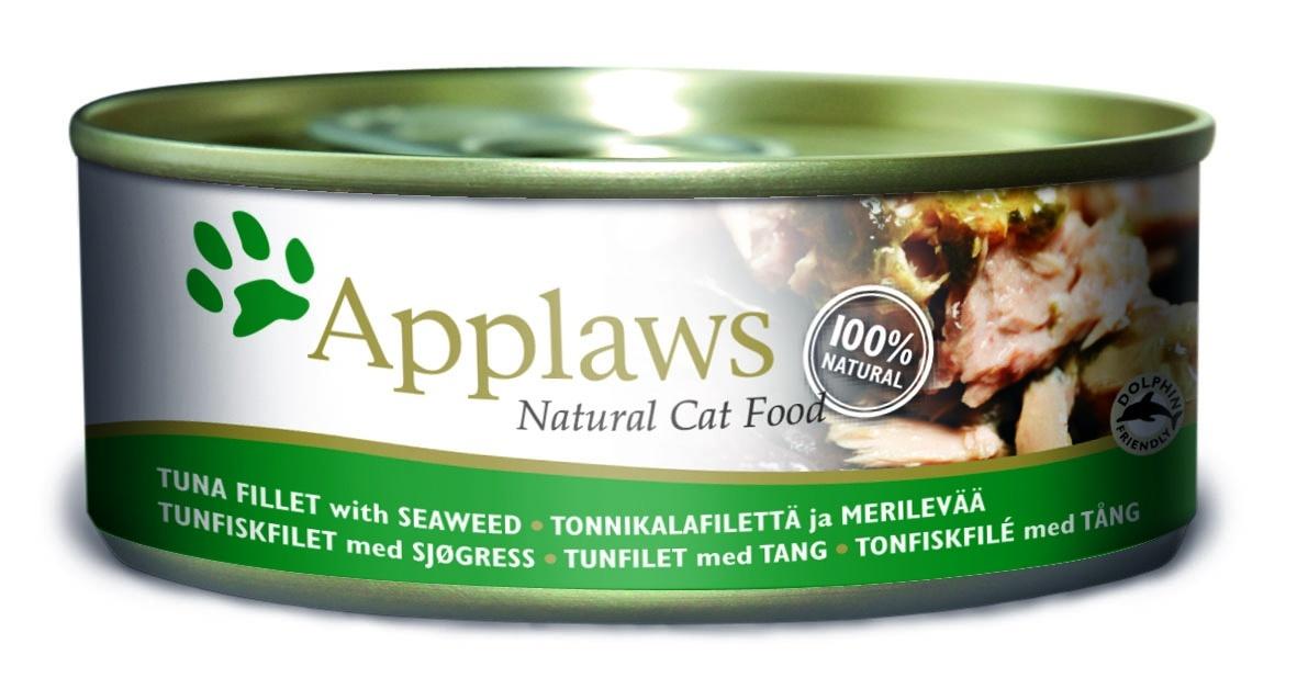 Консервы Applaws, для кошек, с филе тунца и морской капустой, 156 г консервы applaws для кошек с филе тунца и креветками 70 г