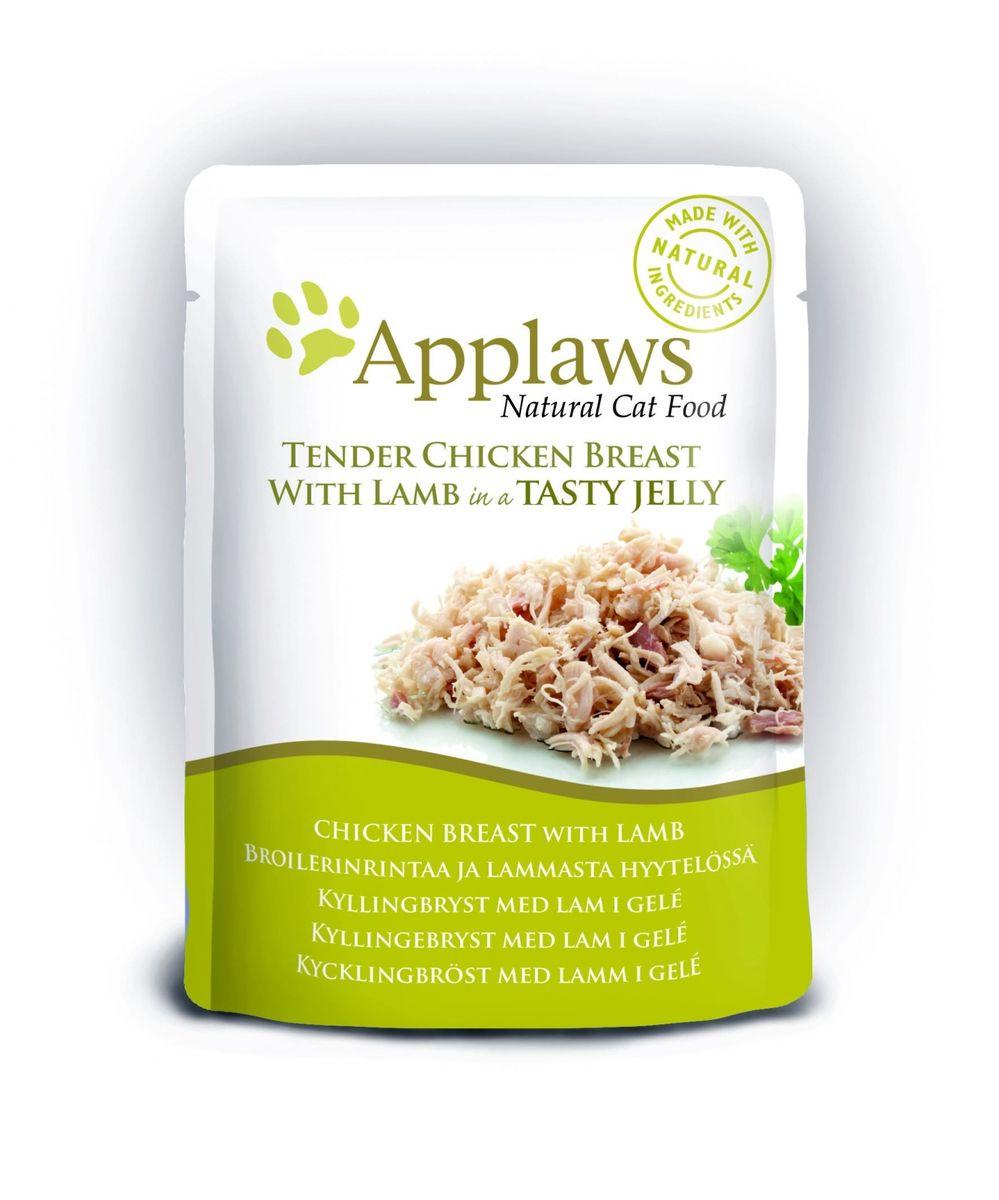 Консервы для кошек Applaws, кусочки курицы с ягненком в желе, 70 г корм для кошек applaws отзывы