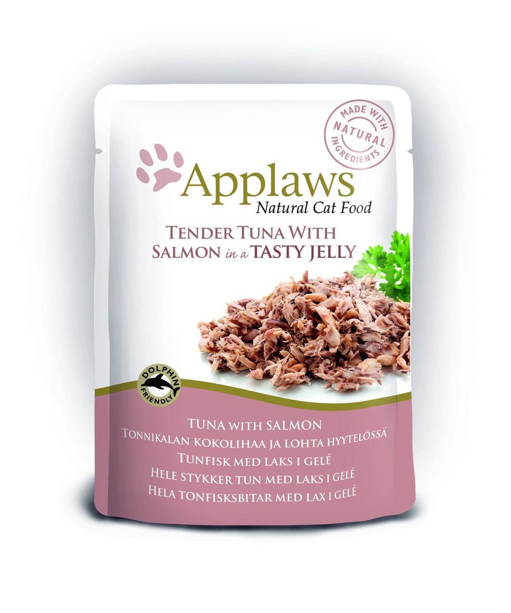 Консервы для кошек Applaws, кусочки тунца с лососем в желе, 70 г корм для кошек applaws отзывы