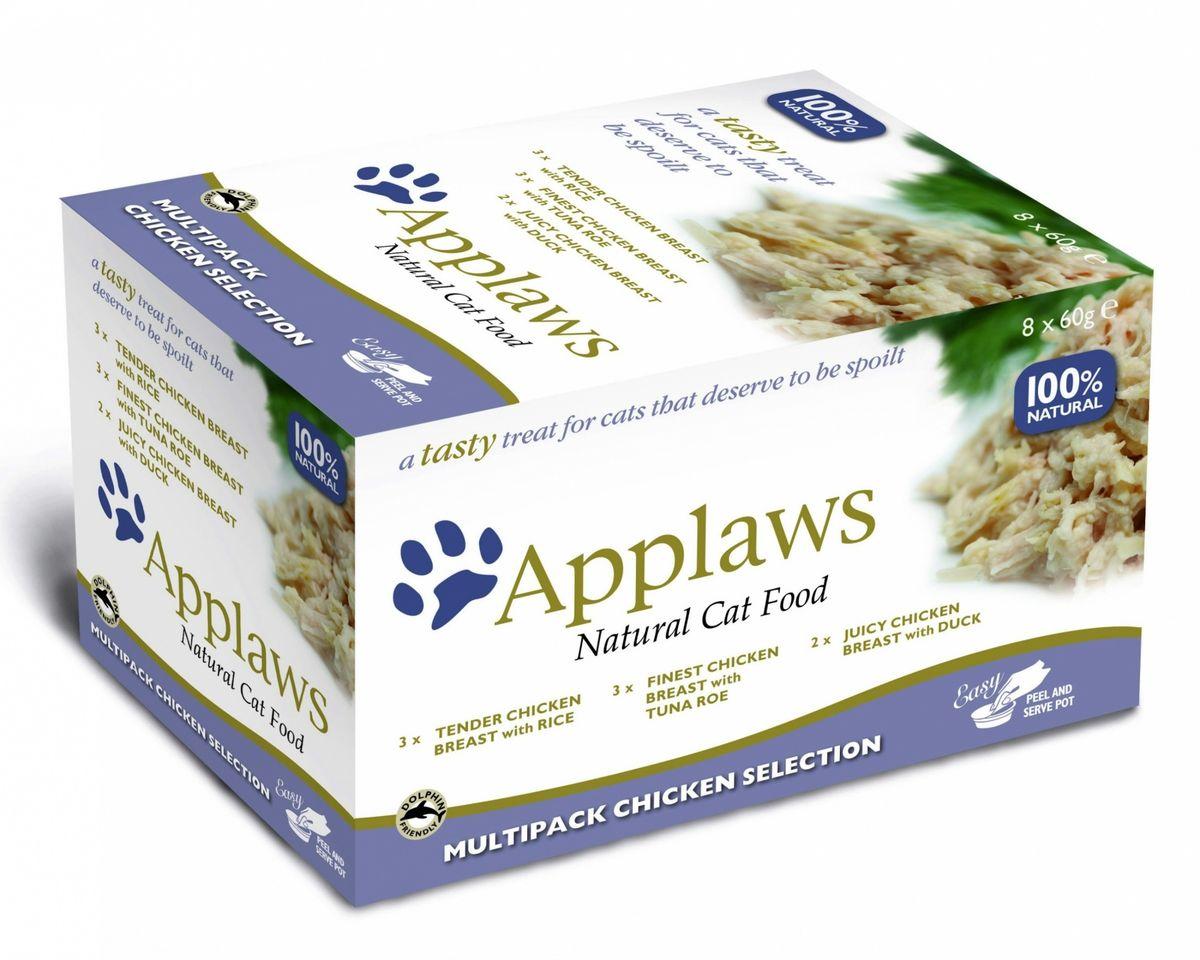 Консервы для кошек Applaws Куриное ассорти, 8 шт х 60 г консервы applaws для кошек с филе тунца и морской капустой 70 г