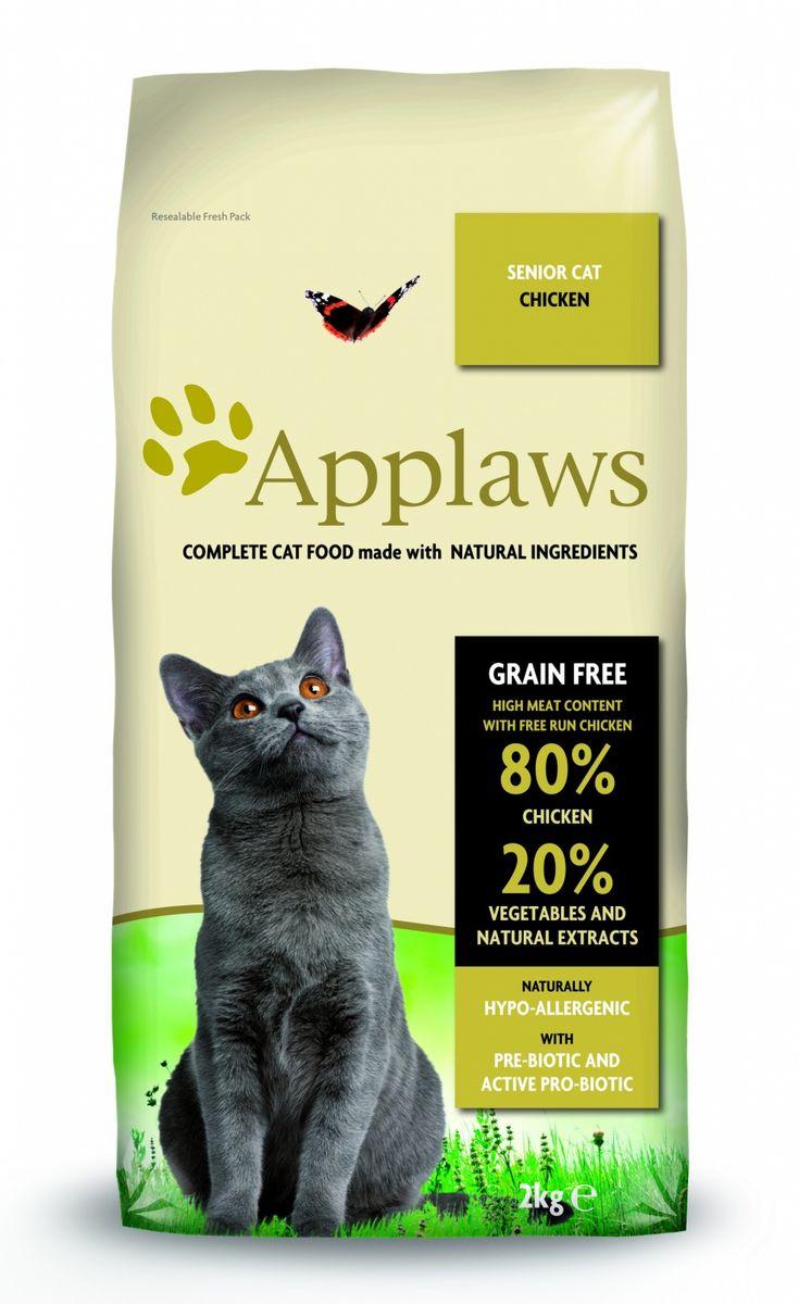 Корм сухой Applaws для пожилых кошек, беззерновой, с курицей и овощами, 2 кг корм для кошек applaws отзывы