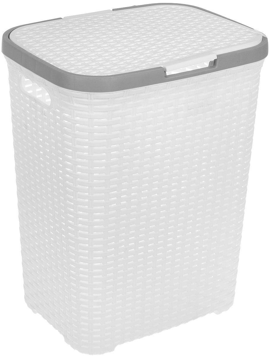 Бак для белья Violet Ротанг, 810471, Полипропилен контейнер для стирального порошка violet 2111 2 ротанг бежевый
