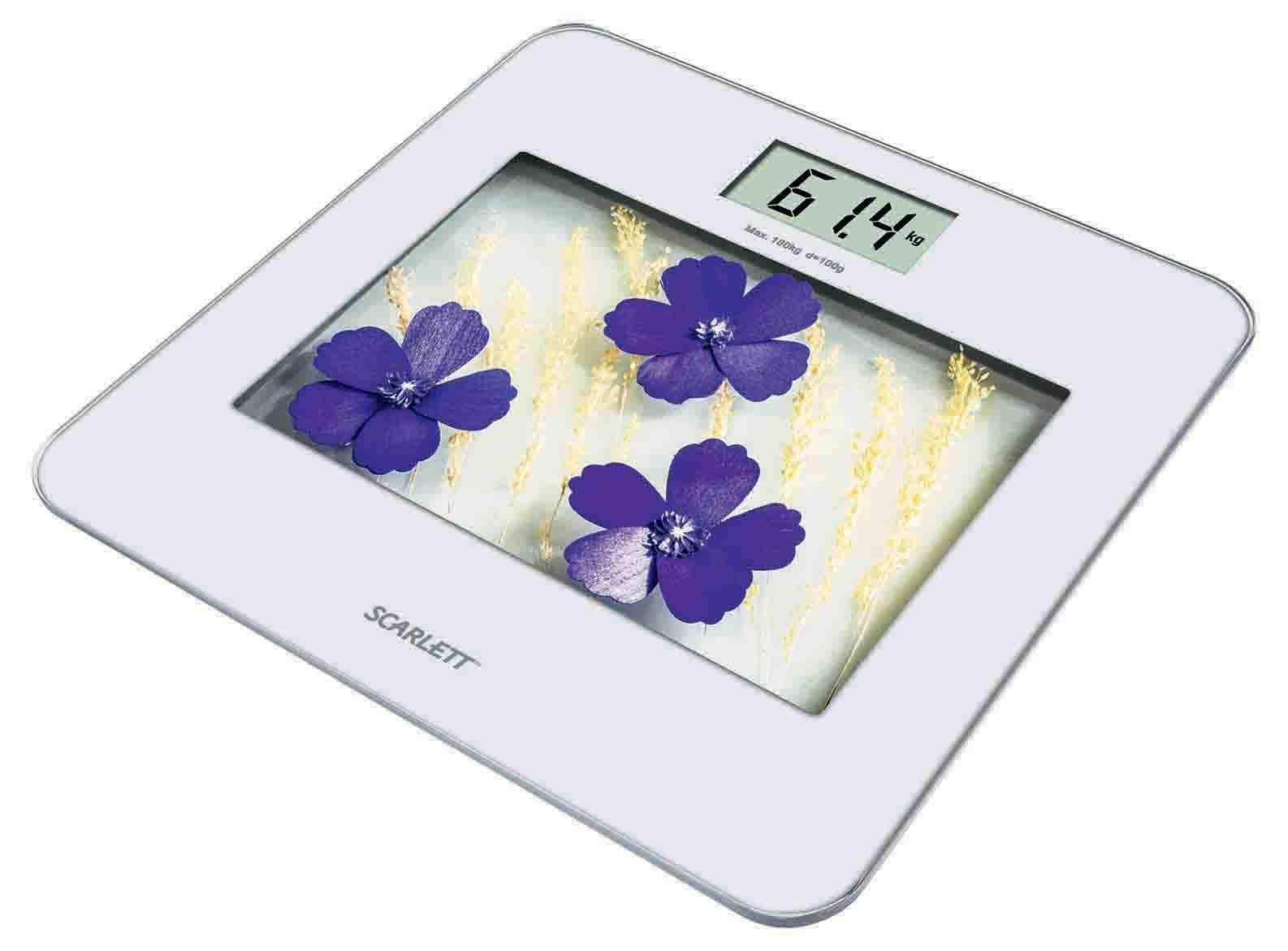 Напольные весы Scarlett SC-BS33E002, Violet Flowers
