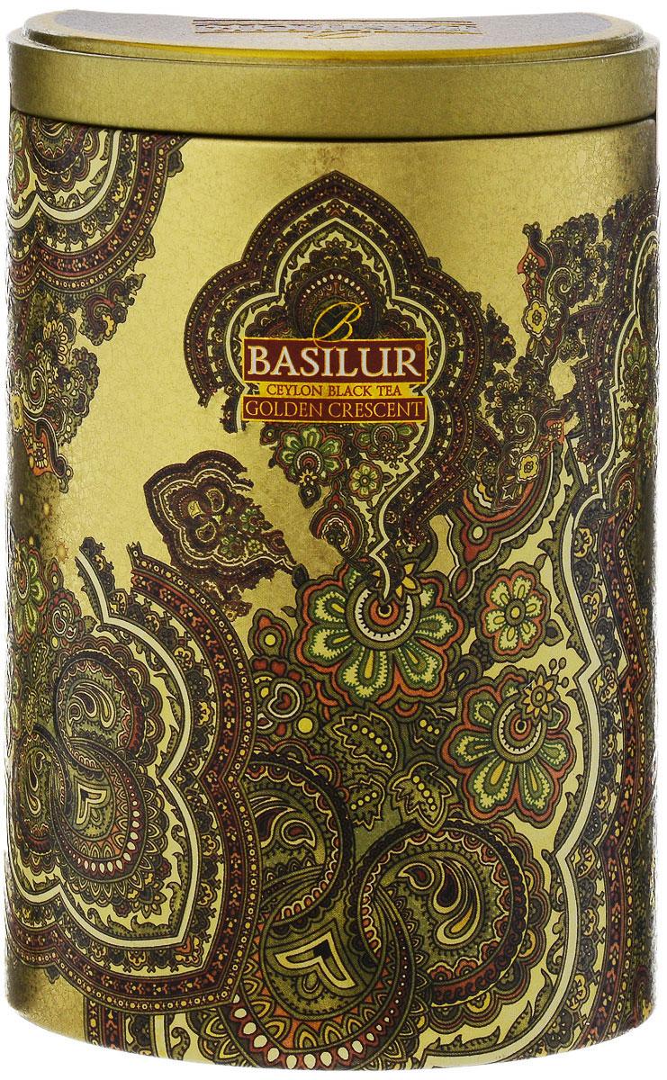 Basilur Golden Crescent черный листовой чай, 100 г (жестяная банка) basilur persian earl grey чай черный листовой с бергамотом 100 г