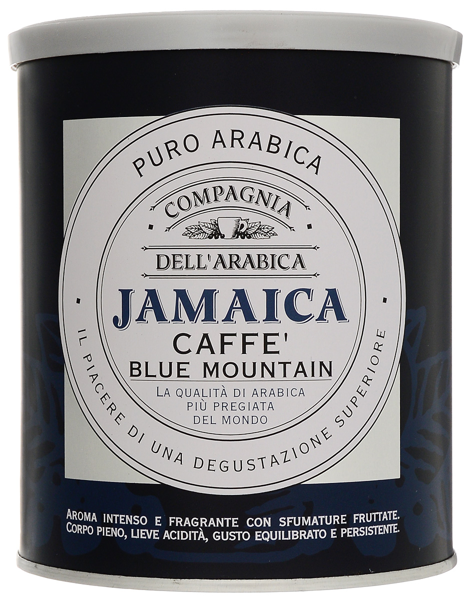 Compagnia Dell'Arabica Jamaica Blue Mountain молотый кофе, 250 г (жестяная банка)