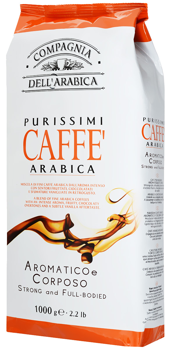 Compagnia Dell'Arabica Purissimi Arabica кофе в зернах, 1000 г футболка wearcraft premium slim fit printio trooper