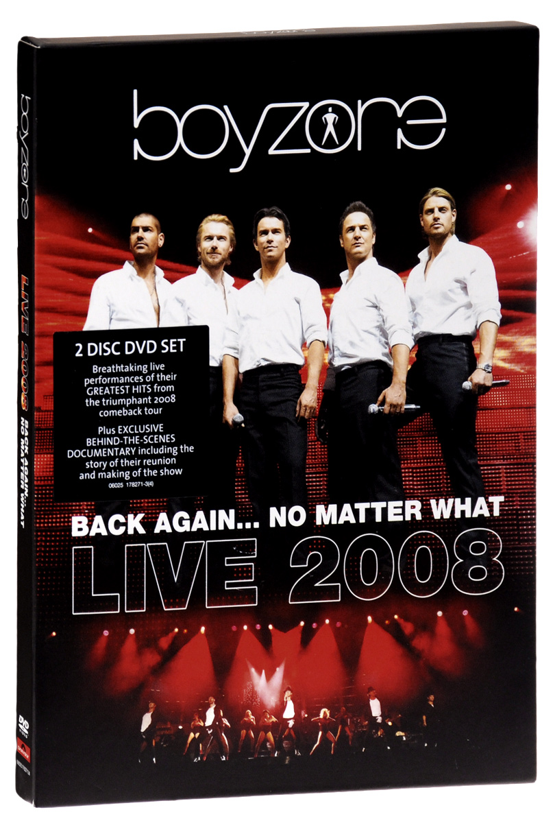 Boyzone: Back Again… No Matter What: Live 2008 (2 DVD) i love me бижутерия