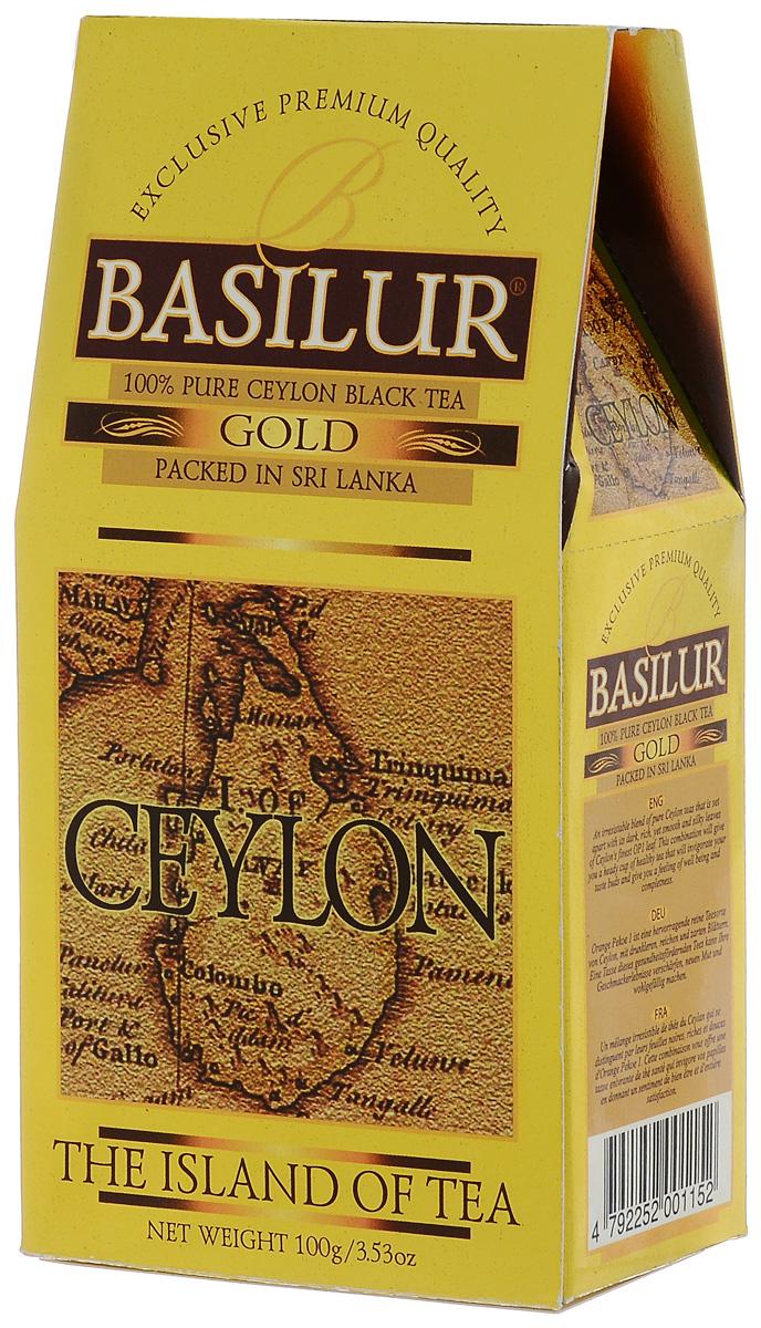 Basilur Gold черный листовой чай, 100 г basilur frosty afternoon черный листовой чай 100 г жестяная банка