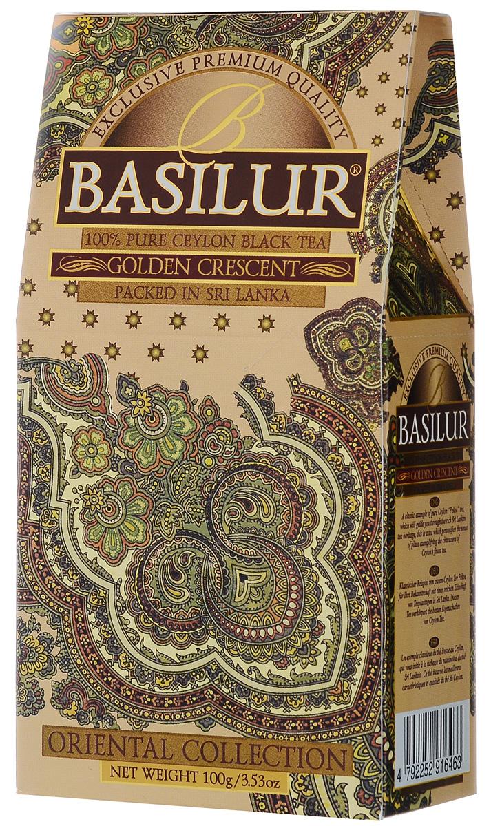 Basilur Golden Crescent черный листовой чай, 100 г basilur frosty afternoon черный листовой чай 100 г жестяная банка