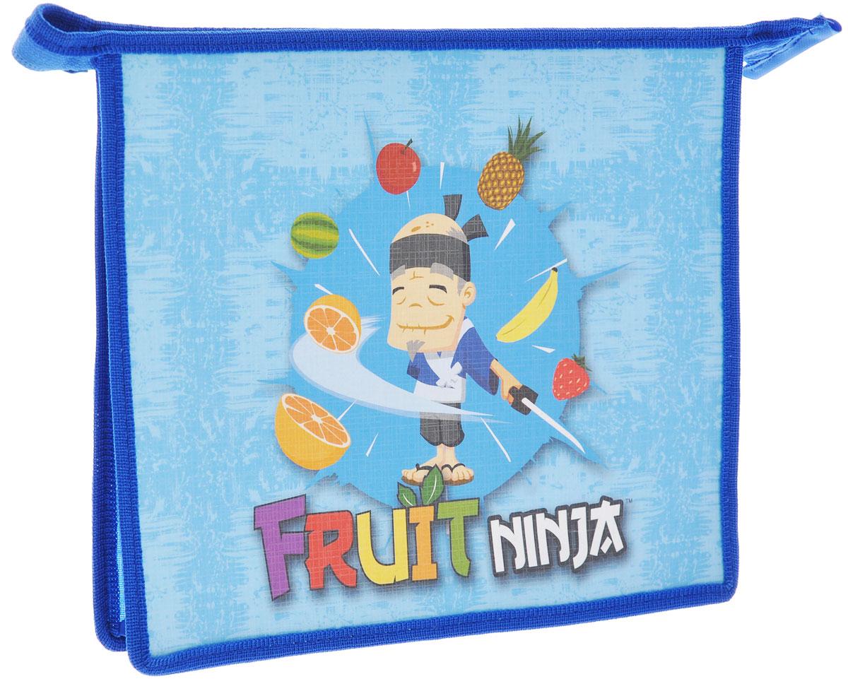 Фото - Action! Папка на молнии Fruit Ninja, цвет: синий. Формат A5 канцелярия action подкладка на стол fruit ninja